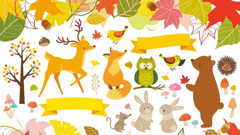 周りの人たちと楽しく、くつろいでいる秋のイメージ